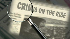 Crime News Headline Stock Footage