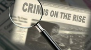 Stock Video Footage of Crime News Headline