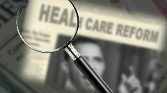 Obama Health Care Reform - stock footage