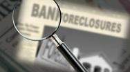 Stock Video Footage of Foreclosure Headline