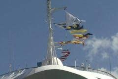 Puerto Rico - Waiving nautical flags Stock Footage