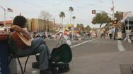 Street fair event - 2 - 12 - street musician guitar male Stock Footage