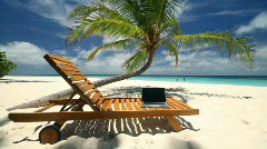 notebook on vacation - stock footage