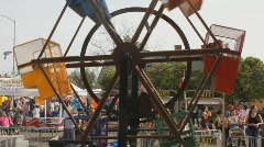 Street fair event - 1 - 8 - mini ferris wheel - stock footage