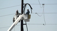 Stock Video Footage of Electrical Line Workers