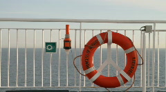 Life buy ferry at sea Stock Footage
