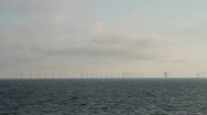 Stock Video Footage of wind turbines at sea