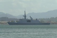 French F712-Courbet missile warship 2 Stock Footage