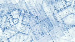 Architecture blueprint plan Stock Footage