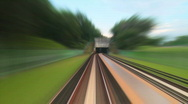 Stock Video Footage of Urban train railways timelapse