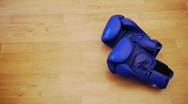Stock Video Footage of boxing gloves - two pairs - accept fight