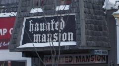Wisconsin Dells Haunted Mansion Stock Footage