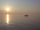 Stock Video Footage of Saltwater Fishing Sunset
