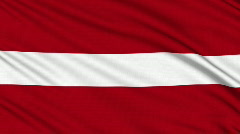 Latvian flag, with real structure of a fabric - stock footage