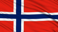 Norwegian flag, with real structure of a fabric Stock Footage