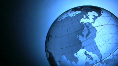 Transparent globe Stock Footage