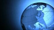 Transparent globe Stock Footage