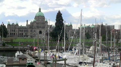 BritishColumbiaParliament Stock Footage