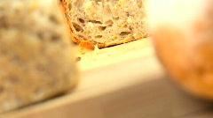 Healthy Wholegrain Bread Stock Footage
