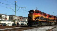 Stock Video Footage of Locomotive on the move USA