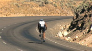 Stock Video Footage of Bicycle racer from behind