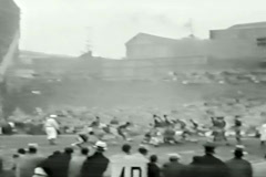 1930's football game - From 1930's film - stock footage