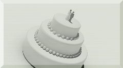 t175 wedding cake cgi background - stock footage