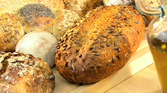 Organic Healthy Bread Stock Footage
