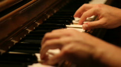 Playing Piano 1525 - stock footage