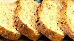 Organic Healthy Bread Stock Footage