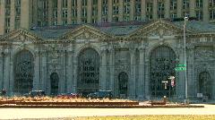 Detroit's urban blight Stock Footage
