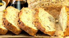 Healthy Wholegrain Bread Stock Footage