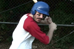 Baseball player in batting cage V1 - NTSC Stock Footage