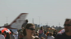 Crowds in time lapse - 12 USAF Thunderbird tail wings Stock Footage