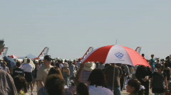USAF Thunderbirds F-16 - parked with canopies closed and ready for show Stock Footage