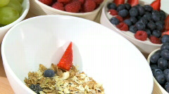Healthy Lifestyle Breakfast Stock Footage