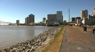 Stock Video Footage of Mississippi river and Levees, New Orleans USA