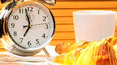 Make Time For Breakfast Stock Footage