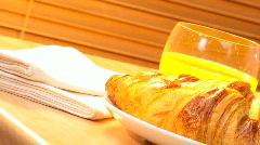 Croissants & Juice Stock Footage