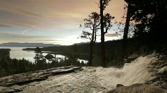 Lower Eagle Falls, Lake Tahoe, sunrise Stock Footage