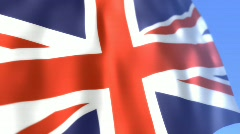 UNION FLAG H264 Stock Footage