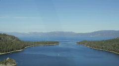 Emerald Bay vehicle shot, Lake Tahoe, California Stock Footage