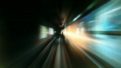 Subway railways timelapse  - stock footage