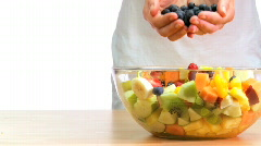 Healthy Fruit Salad Stock Footage