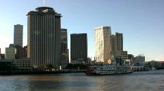 Paddle Steamer, Mississippi river, New Orleans USA Stock Footage