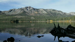 Fallen Leaf Lake, Lake Tahoe, California Stock Footage
