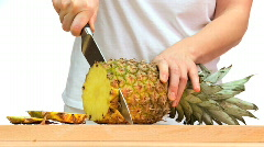 Juicy Fresh Pineapple Stock Footage