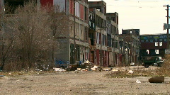 Detroit's abandoned and deteriorating Packard Auto Plant Stock Footage