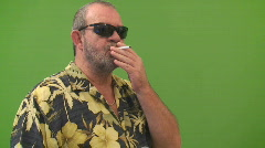 Man lighting up cigarette Stock Footage