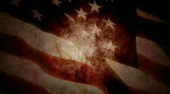 Grunge US Flag Stock Footage